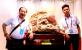 桂林市工艺美术大师林粦忠鸡血玉新作品亮相南宁
