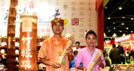 """云南省勐海县古法茶厂:""""竹报平安""""茶叶亮相南宁"""