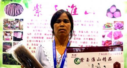 上林县古峰食品加工厂:全力种植生产推广富硒紫玉淮山